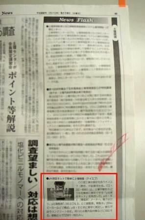 pH測定キット、環境新聞で掲載