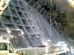 落石防護網施工事例1